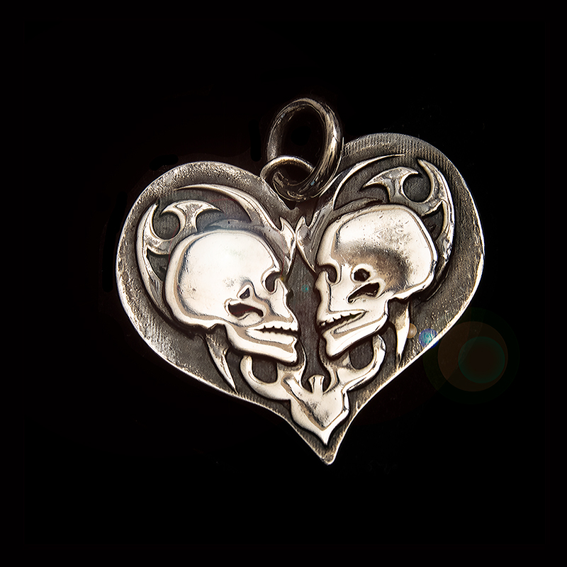 True Love Double Skull Front